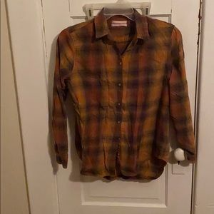 Urban outfitters orange flannel